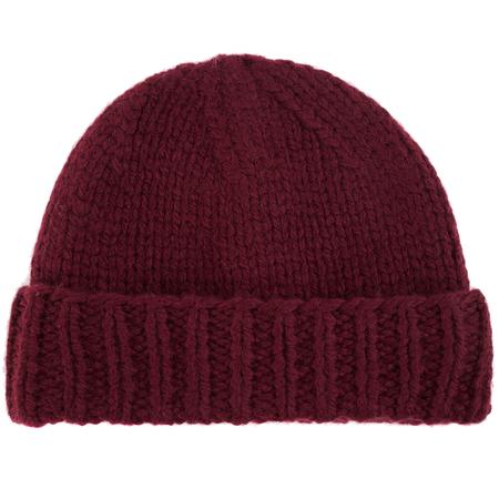 Maison Margiela Burgundy wool beanie-Purple