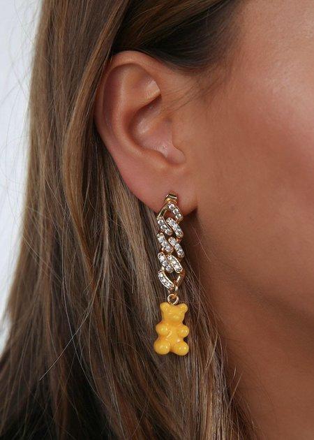 Nostalgia Bear Earring Single - NYC Taxi Yellow