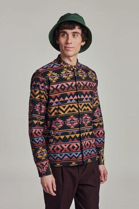 Size L Overshirt - Navajo Motif Finest Italian Cotton