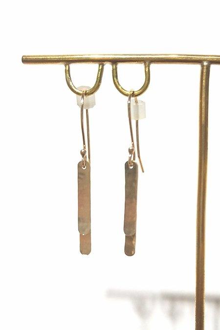 Cobamae Medium Baguette Earrings - 14k Gold