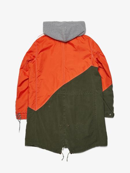[Pre - Loved] Greg Lauren 50 / 50 Nylon / Army Fishtail Parka - Orange