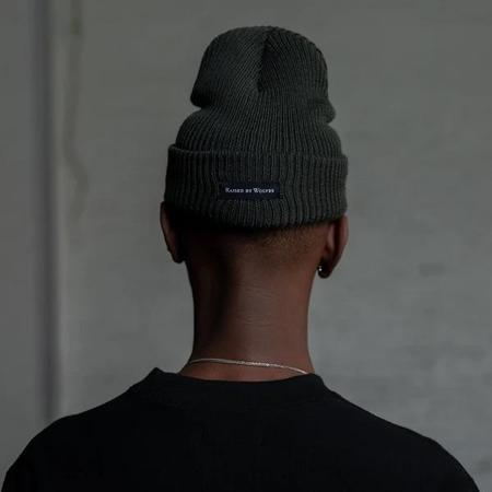 Raised by Wolves Merino Watch Cap Beanies - Forest Green