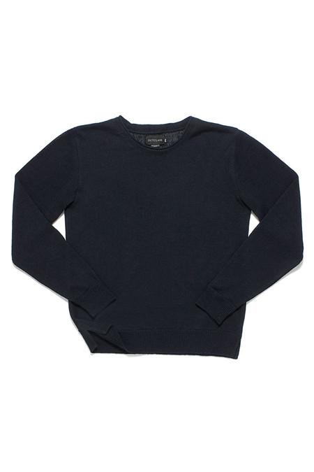 Outclass Linen Knit Crew Neck Indigo