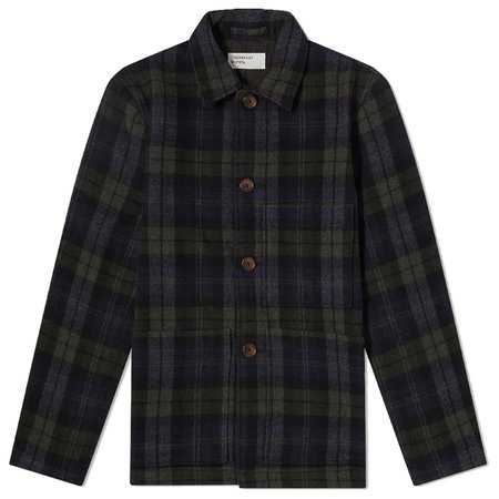 Universal Works Simple Bakers Jacket - Charcoal