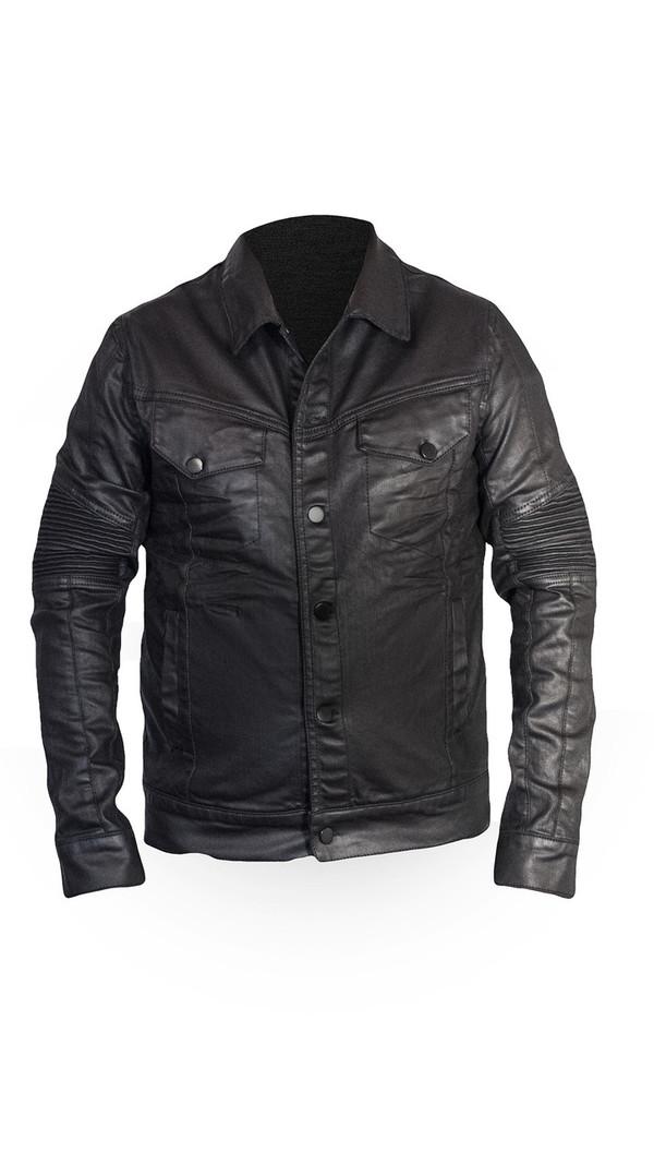 Sons Of Heroes Black Wax Denim Jacket