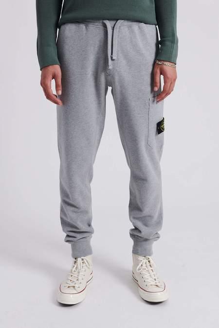 Stone Island Brushed Cotton Fleece Sweat Pants - Melange Grey