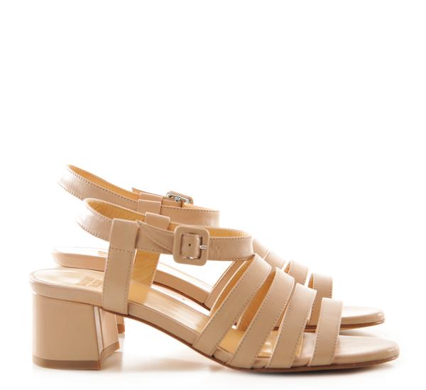Maryam Nassir Zadeh Palma Low Heel Sandals Camel Napa