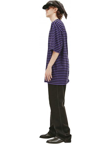 Undercover Logo striped T-shirt - Purple