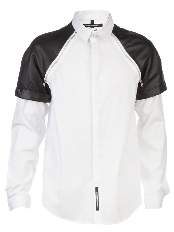 Sons Of Heroes Leather Detail Shirt
