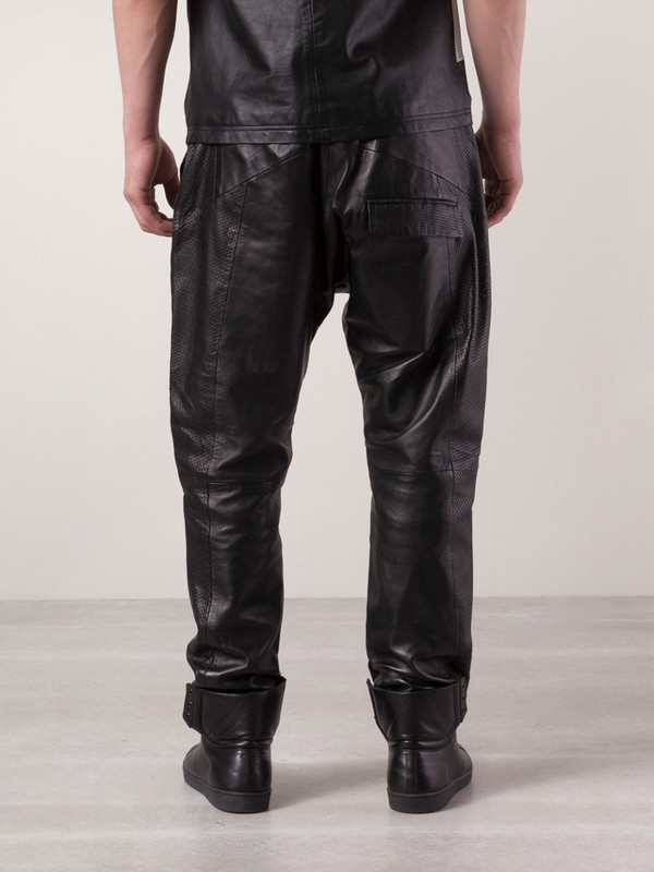 Sons Of Heroes leather drop crotch trousers