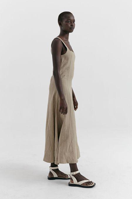 MARLE Anouk dress - Sesame stripe