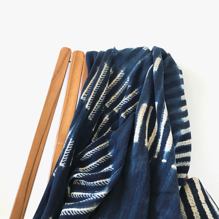 Gather Home + Lifestyle Vintage Indigo Mudcloth Throw