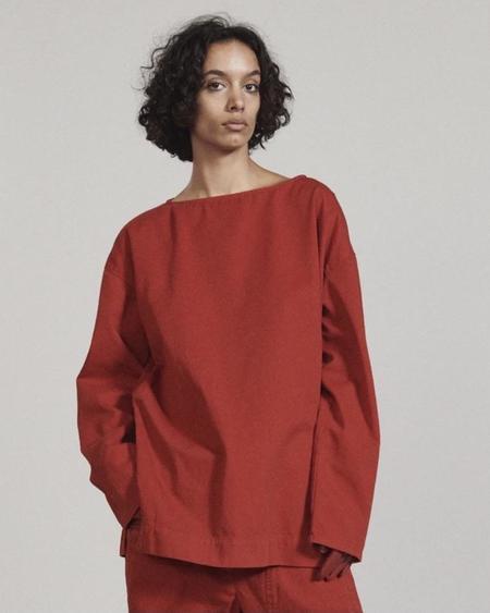 Rachel Comey BARTER SMOCK Pullover - PAPRIKA