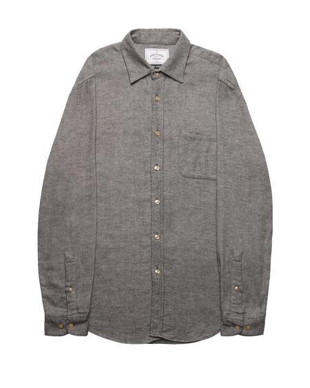 Portuguese Flannel Teca Shirt - Light Grey
