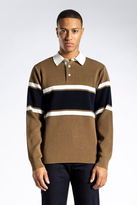 Norse Projects Ruben Knitted Polo - Duffle