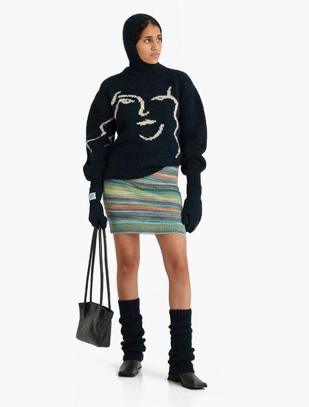Unisex Paloma Wool Anita Knit Sweater - Granite Dark Green