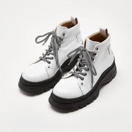Sister x Soeur Dakota Hiker Lace Up Boot - White