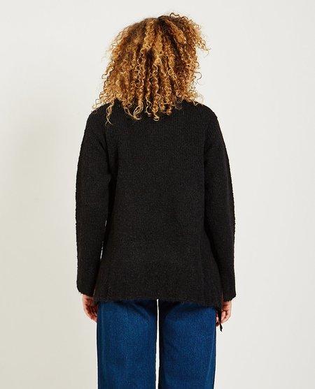 Maison Margiela Ribbon Hairy Knit Sweater - Black