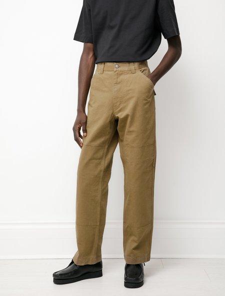 Margaret Howell MHL Knee Patch Workwear Trouser - Khaki