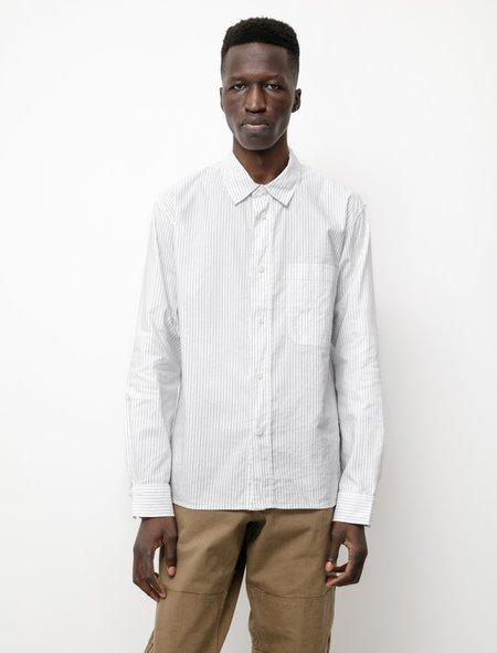 Margaret Howell MHL Painters Cotton Linen Shirt - White