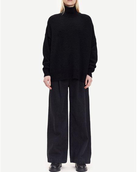 Samsøe & Samsøe Pantalón Giana trousers  - Black Snow