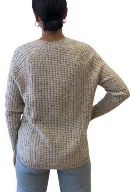 Autumn Cashmere Shirttail Thermal Crew sweater - pebble