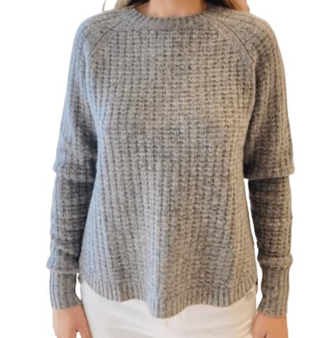 Autumn Cashmere Shirttail Thermal Crew sweater - Tutti Frutti