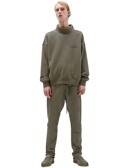 Fear of God Essentials Cotton Mockneck Pullover - brown