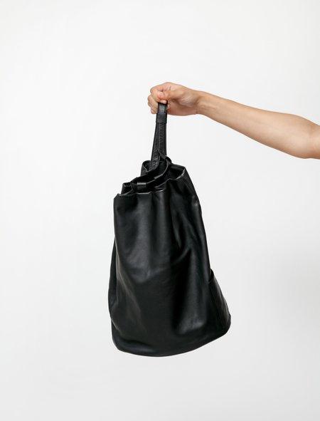 Y's by Yohji Yamamoto Leather Combi Backpack - Black