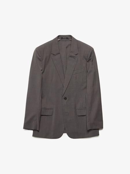 Maison Margiela Male Grey White Striped Wool Blazer PRE-LOVED