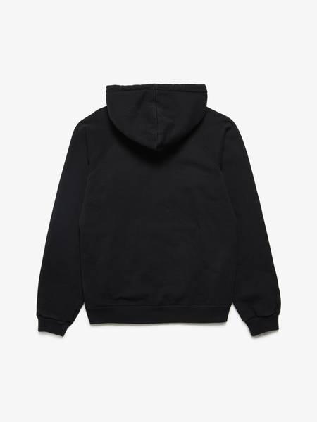 Celine Male Black Logo Embroidered Cotton Hoodie PRE-LOVED-Black