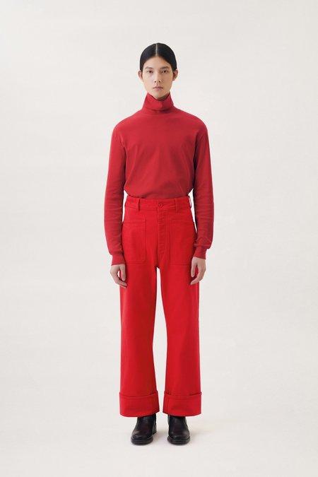 Lemaire Denim sailor pants - Poppy red