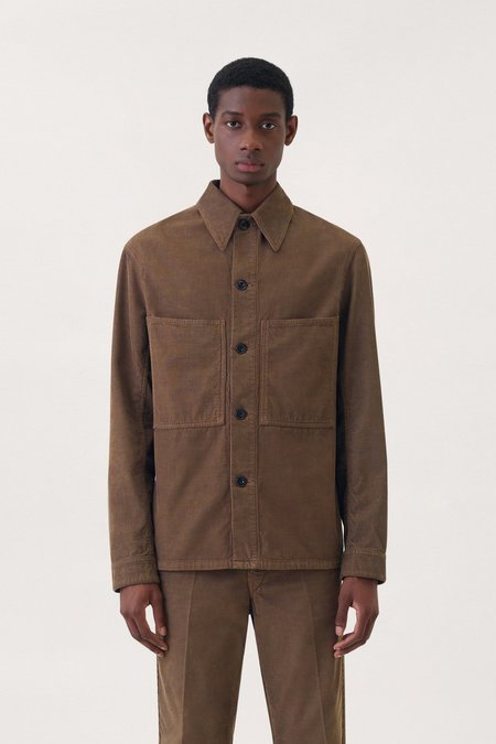 Lemaire Overshirt cotton corduroy - Brown
