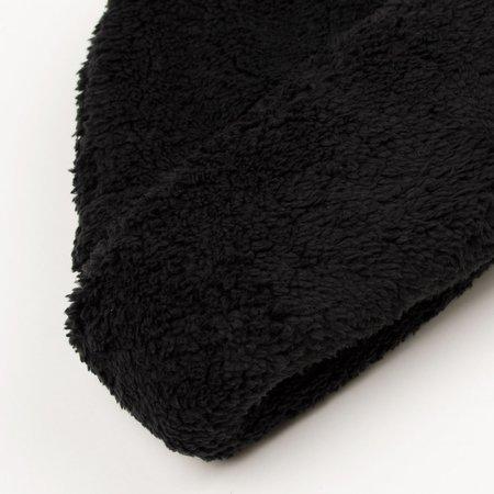 cableami Boa Fleece Drawcord Hat - Black