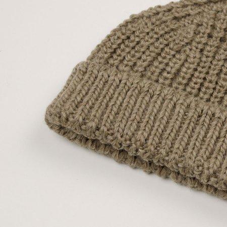 cableami  British Wool Short Beanie - Beige