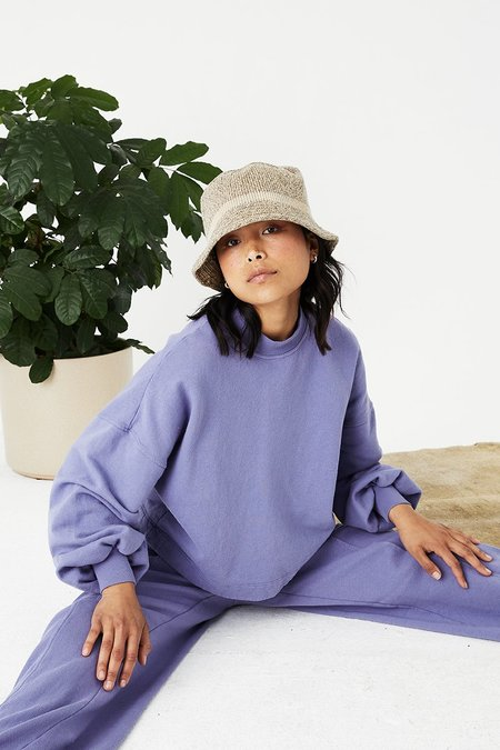 Back Beat Co. Recycled Cotton Puff Sleeve Sweats - Heron
