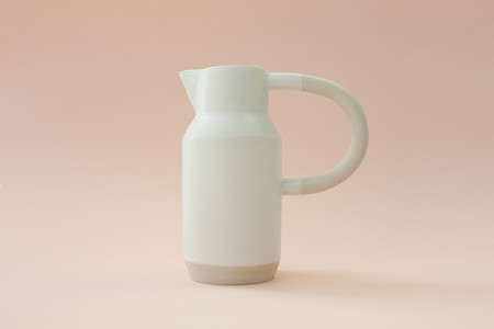 YYY COLLECTION PEACH AND WHITE JUG