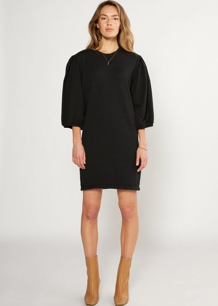 Etica Isabelle Puff Sleeve Knit Dress - Black