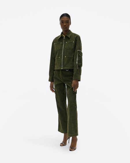 Helmut Lang Corduroy Shirt Jacket - Seaweed