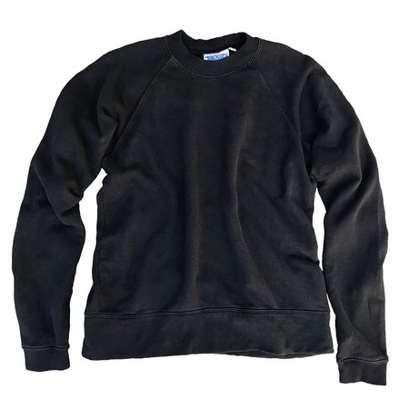 Unisex Jungmaven Sierra Raglan Sweatshirt - Black