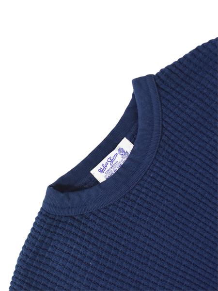 Velva Sheen Heavy Thermal Sweater - Navy