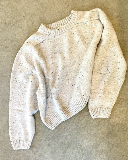 Micaela Greg Speckle Boucle Sweater - Cream Boucle