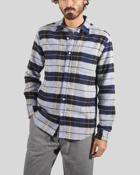 Portuguese Flannel Nebraska Shirt - Frosty Blue