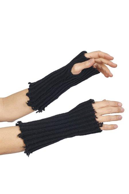 Isabel Benenato Fingerless Eco Cashmere Gloves - Black