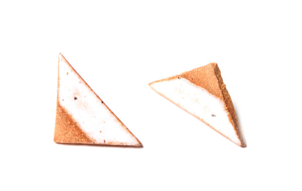 Maple & Mauve Arrows in Natural Stone Earrings