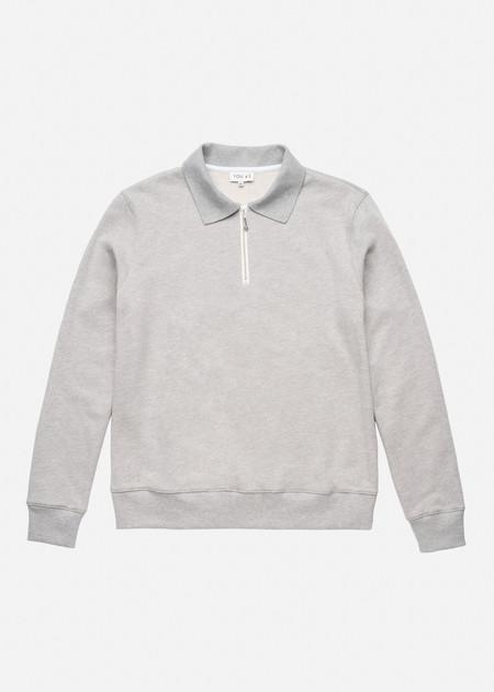 YOU AS Payne Sweatshirt in Grey Heather
