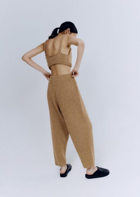 Mónica Cordera Soft Wool Top - Camel