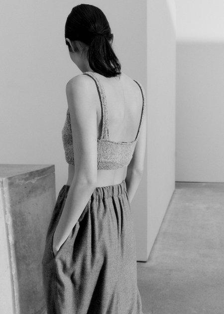 Mónica Cordera Soft Wool Top - Grey