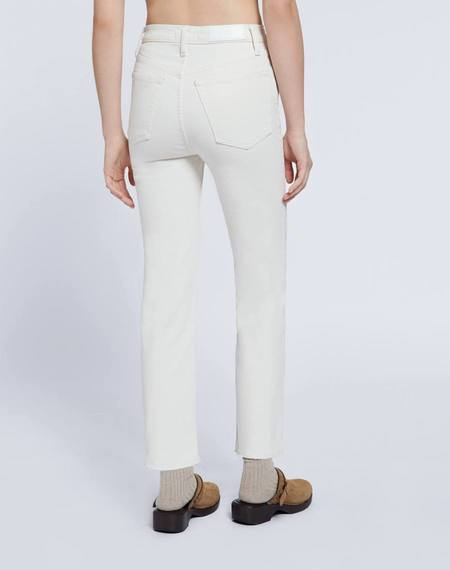 RE/DONE Comfort Stretch High Rise 70s Stove Pipe Denim - Vintage White