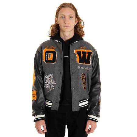 OFF-WHITE Varsity Jacket - gray
